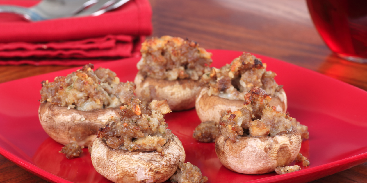 Slow Cooker Stuffed Mushroom Caps * *