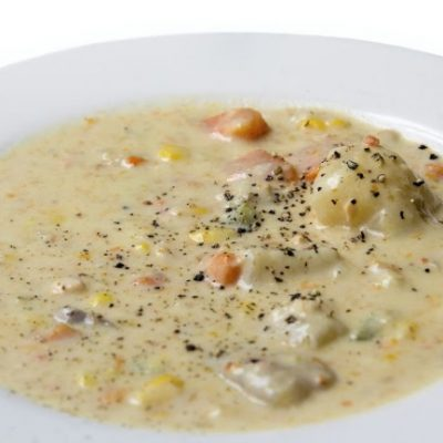 Slow Cooker Chicken Clam Chowder