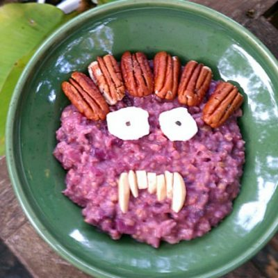 **Slow Cooker Purple Sweet Potato Oatmeal