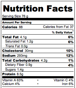 16 bean soup nutritional info