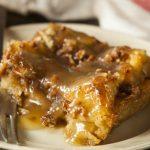 **Slow Cooker Maple Glazed Pumpkin Bread Pudding