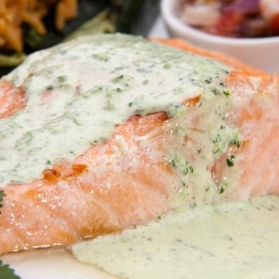 **Slow Cooker Salmon Bake