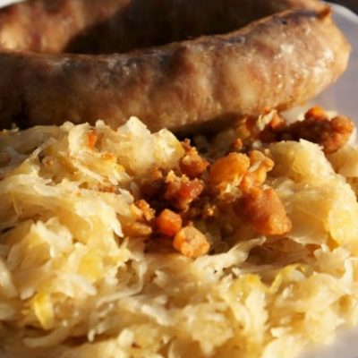 **Slow Cooker Sausage and Sauerkraut