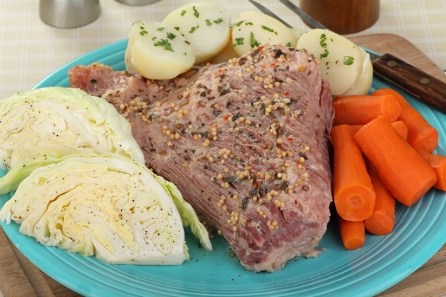 **Slow Cooker Corned Beef Brisket and Cabbage