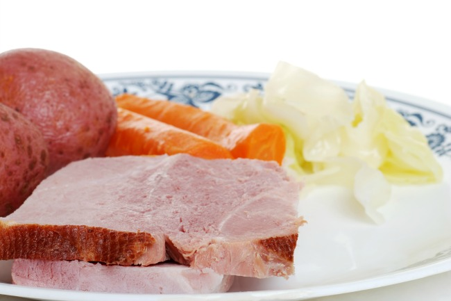 **Slow Cooker Ham and Cabbage