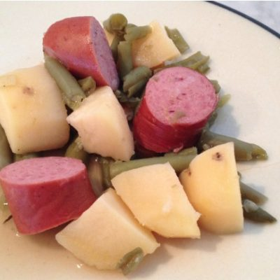 **Slow Cooker Sausage Potato and Green Beans
