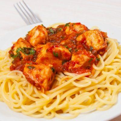 Slow Cooker Chicken Saghetti