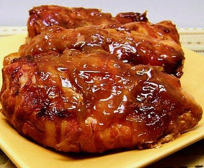 Crock Pot Bacon Wrapped BBQ Chicken