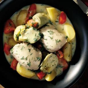 Slow Cooker Greek Chicken & Vegetable Ragout