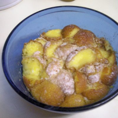 Slow Cooker Doughnut Bread Pudding