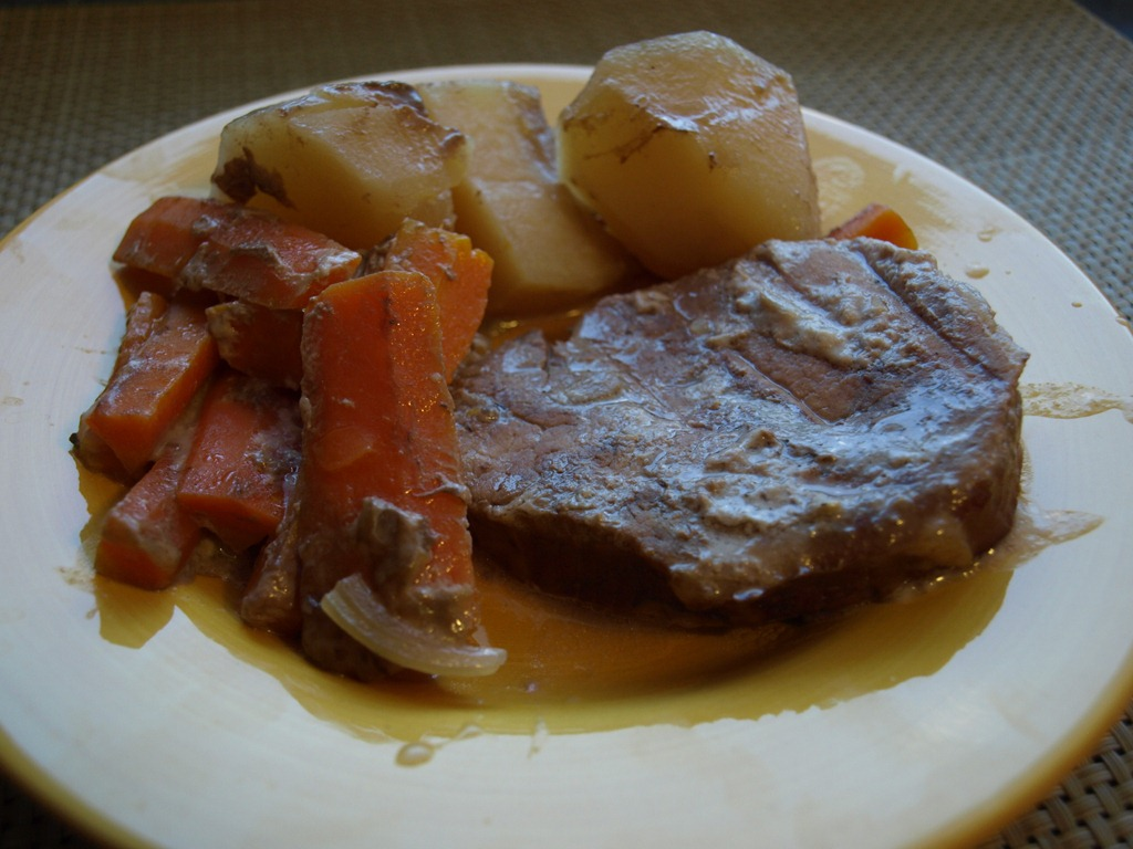 Round Steak, Potatoes and Carrots