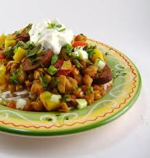 Slow Cooker Southwestern Sausage and Hominy Stew
