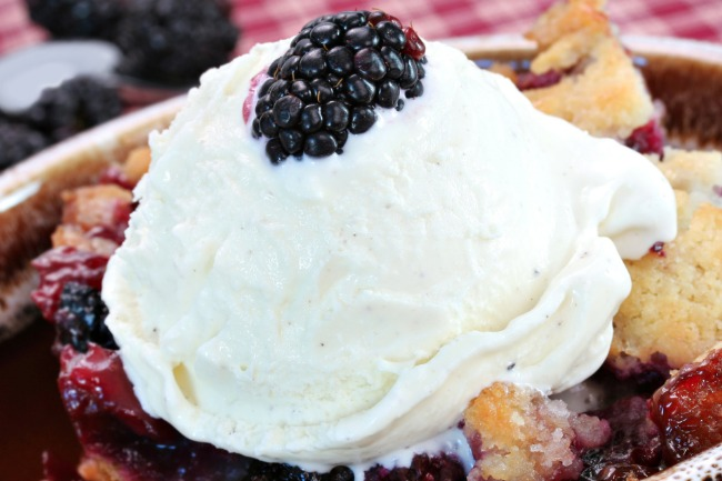 **Slow Cooker Red White and Blue Cobbler