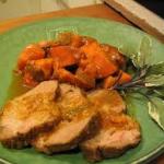 Crock Pot Garlic Roast Pork and Sweet Potatoes