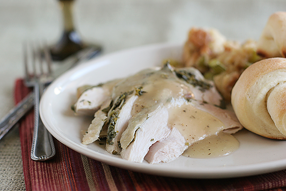 Crock Pot Turkey and Herbs