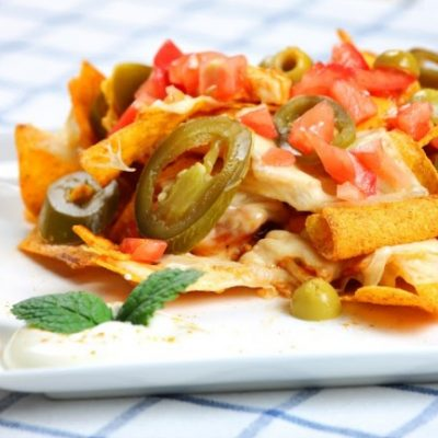 **Slow Cooker Chicken Nachos