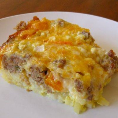 Crock Pot Sausage and Egg Casserole