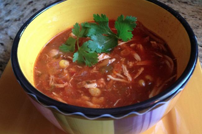 Slow Cooker Chicken Tortilla Soup **
