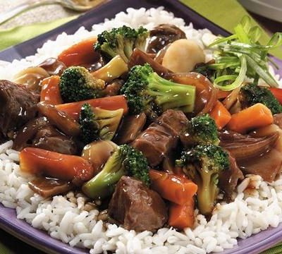 Crock Pot Chop Suey over Rice