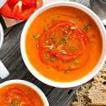 **Slow Cooker Roasted Red Pepper Soup