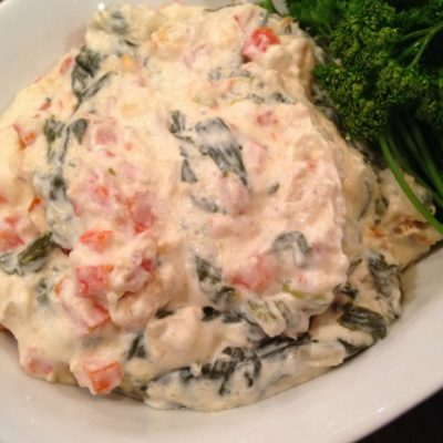 **Slow Cooker Hot Spinach and Red Pepper Dip