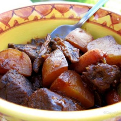 Crock Pot Barbecue Beef Stew