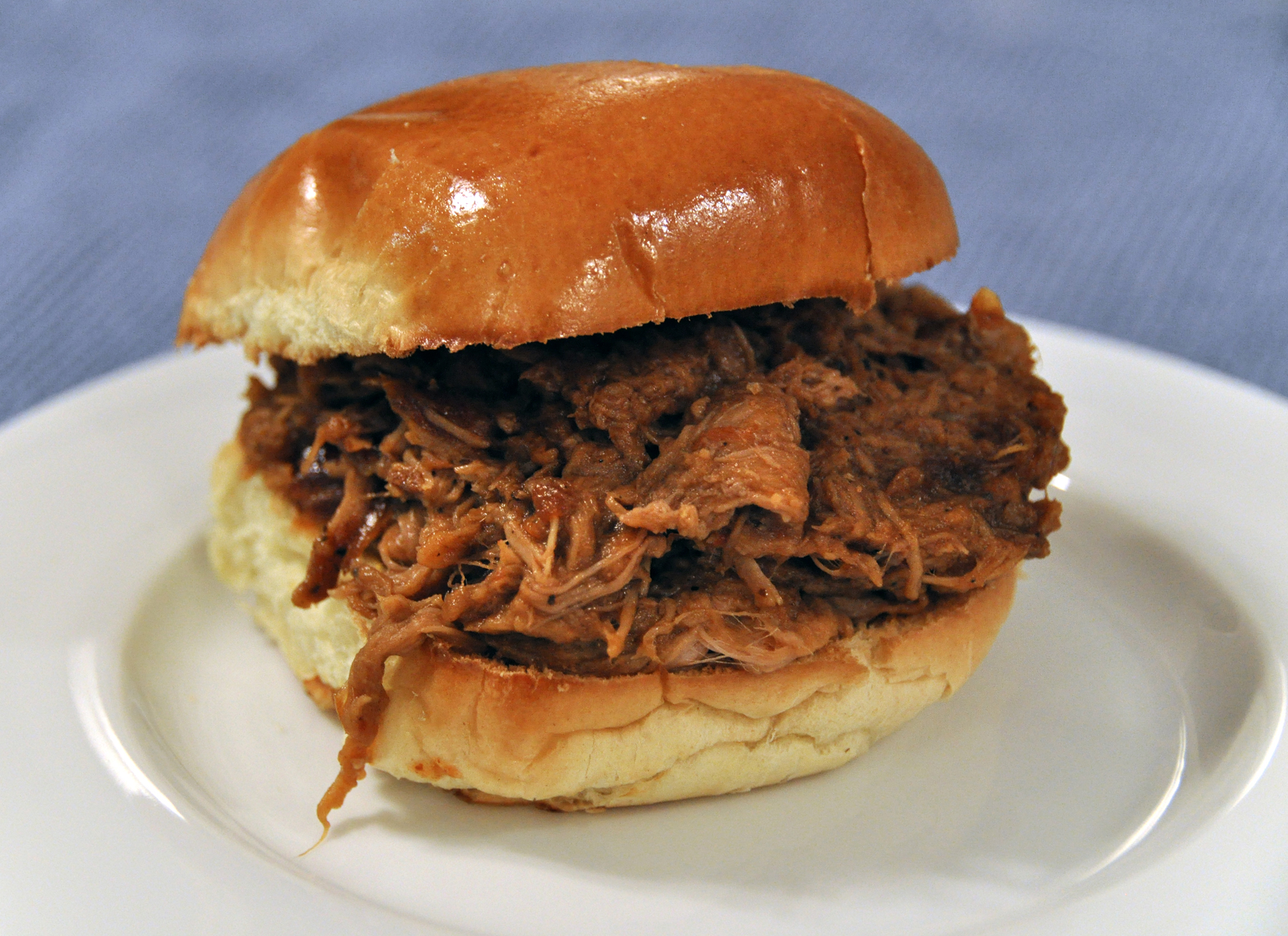 Crock Pot Barbecue Pork Sandwich