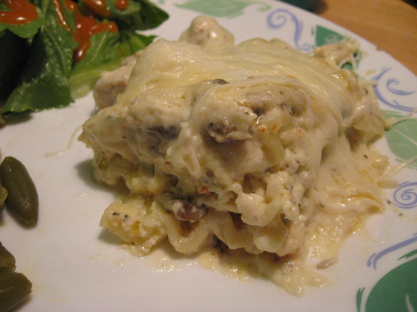 Crock Pot Chicken Alfredo Lasagna