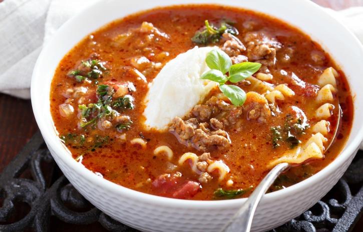 **Slow Cooker Lasagna Soup