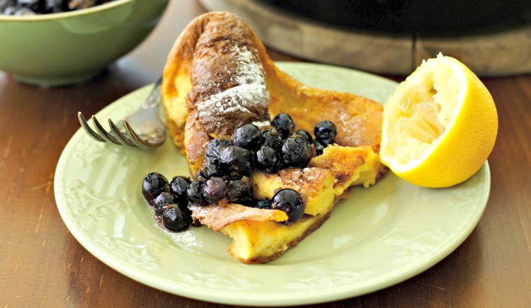 **Slow Cooker Lemon Blueberry Pancake