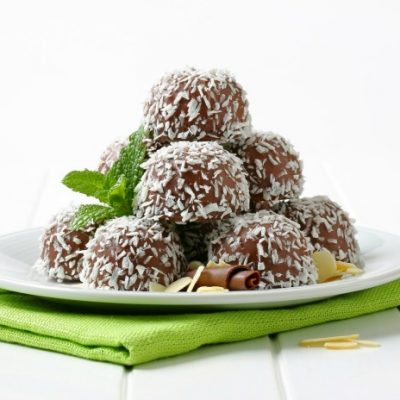**Slow Cooker Coconut Peanut Butter Balls