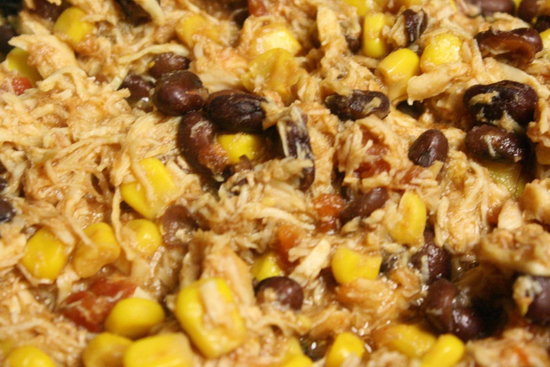Crock Pot Creamy Black Bean Salsa Chicken