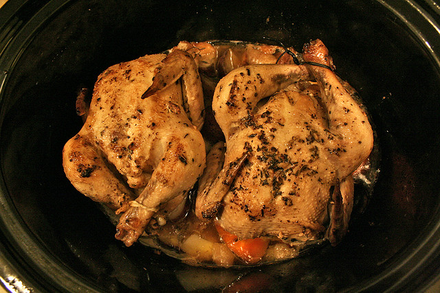 Crock Pot Easy Cornish Hens