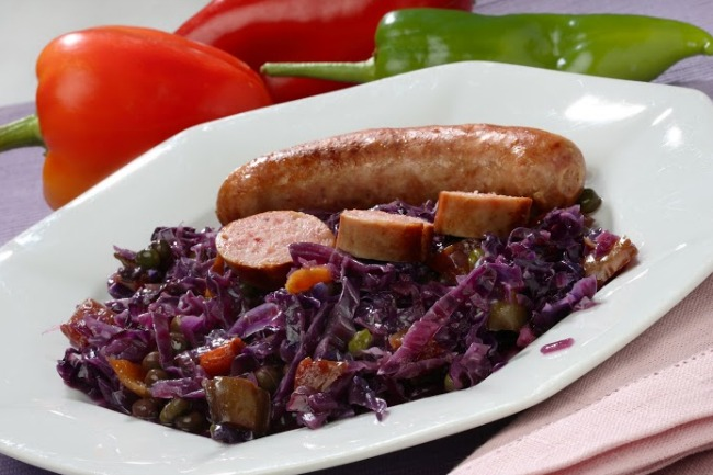 88Slow Cooker Sausage and Cabbage