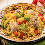 Slow Cooker Chicken and Sausage Paella **