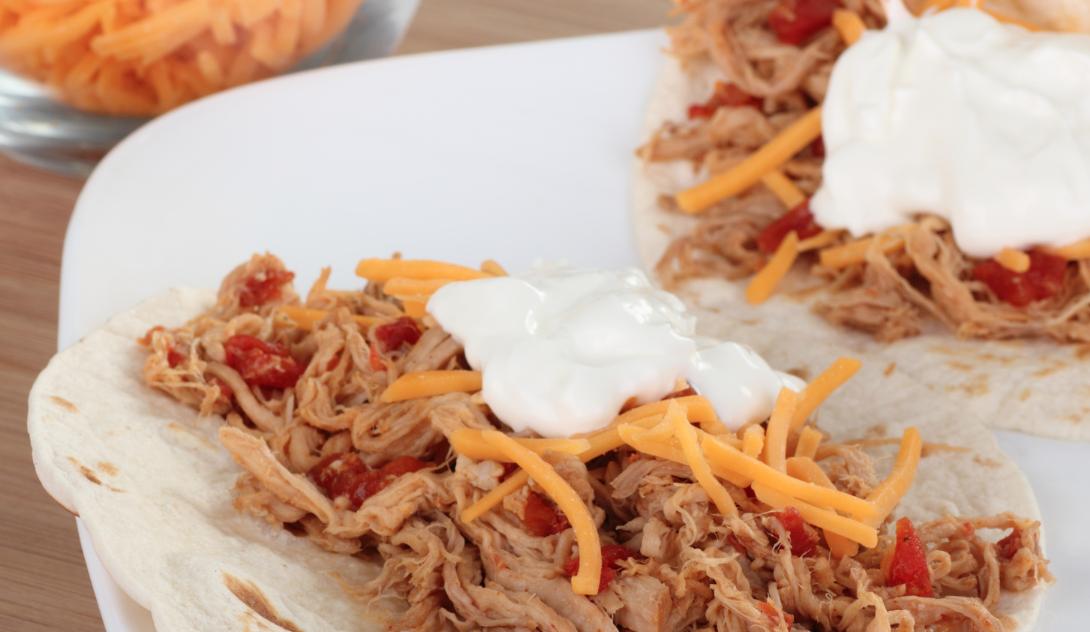 Slow Cooker Shredded Pork Tacos * *