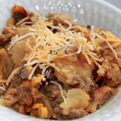 Crock Pot Hamburger and Potato Casserole