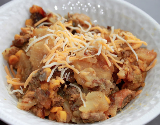 Crock Pot Hamburger and Potato Casserole