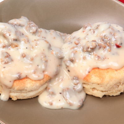 Slow Cooker Chipped Beef/Sausage Biscuits and Gravy * *