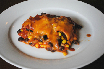 Crock Pot Vegetarian Enchilada Casserole