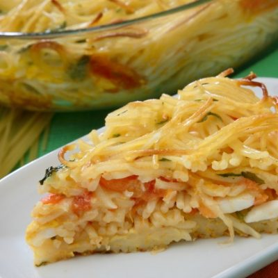 **Slow Cooker Spaghetti Pie