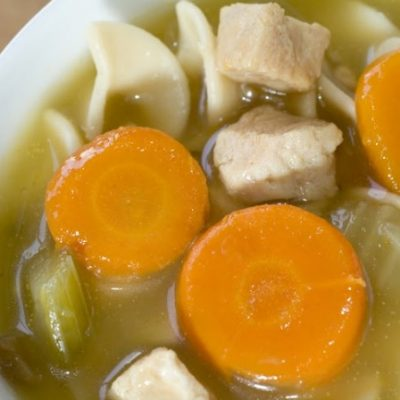**Slow Cooker Leftover Turkey Noodle Soup