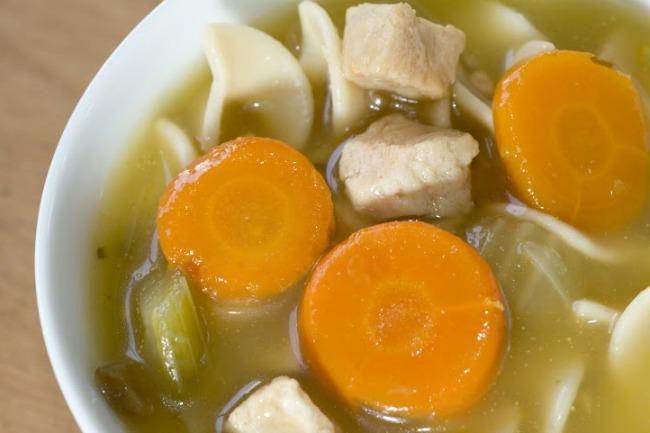 **Slow Cooker Leftover Turkey Noodle Soup