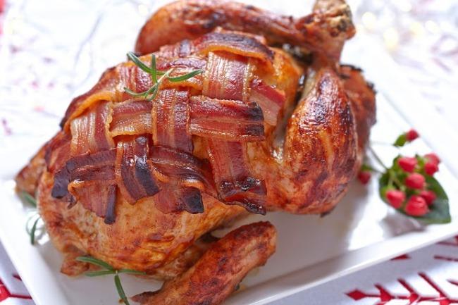 **Turkey Wrapped in Bacon