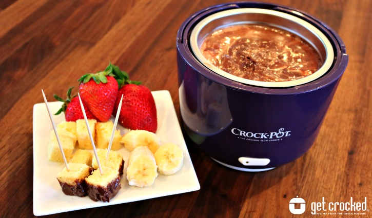 Slow Cooker Chocolate Marshmallow Fondue