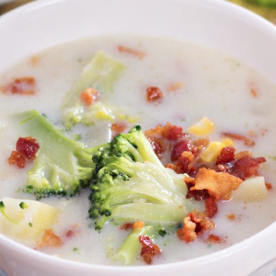 Slow Cooker Smashed Potato Soup * *