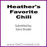 Heather's Favorite Chili