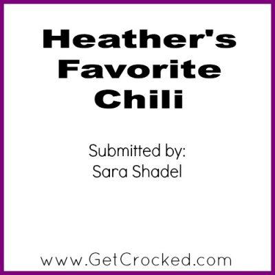 Heather's Favorite Chili