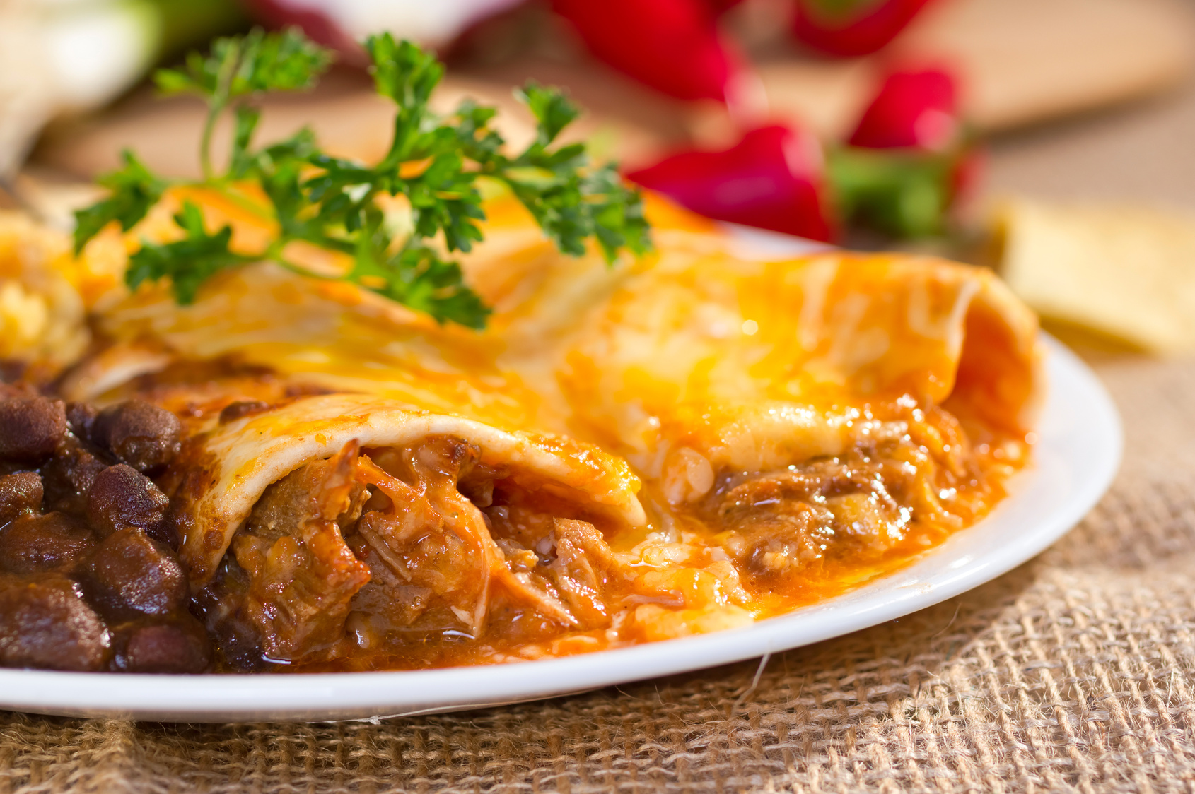 Slow Cooker Enchilada Beef*