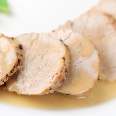 Slow Cooker Maple Brine Pork Loin * *